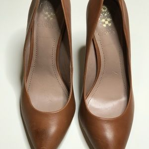 Vince Camuto Shoes - Vince Camuto Brown Leather Heels Size 9.5
